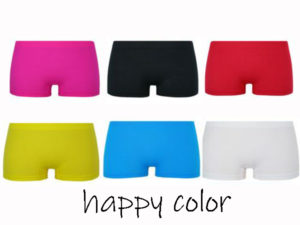 MICROFIBER BOXER SHORTS WOMEN HAPPY COLOR HIPSTER 6 PACK SIZE L/XL