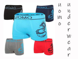 UOMO MICROFIBER BOXER SHORTS SEAMLESS DRAGON 5 PACK