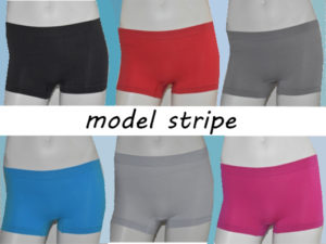 MICROFIBER BOXER SHORTS MODEL STRIPE FOR LADIES 4 PIECES
